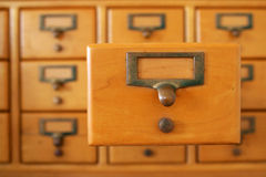 Library Card Drawer Stock Photography