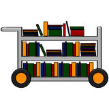 Library cart Royalty Free Stock Images