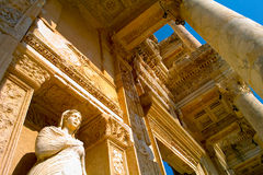 Library of Celsus. The Ruins at Ephesus, Turkey Stock Photos