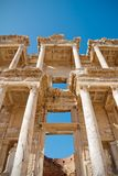 Library of Celsus. Main entrance to ancient library of Celsus in Ephesus, Turkey Stock Image
