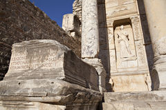 The Library of Celsus. Is an ancient building in Ephesus, Izmir, Turkey Stock Photography
