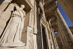 The Library of Celsus. Is an ancient building in Ephesus, Izmir, Turkey Stock Image