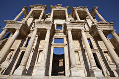 The Library of Celsus. Is an ancient building in Ephesus, Izmir, Turkey Royalty Free Stock Photo