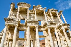 Library of Celsus. In Ephesus, Turkey Royalty Free Stock Photography