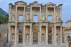 The Library of Celsus. In Ephesos, Turkey. One of the best preserved examples of an ancient roman building with strong greek influences and a symbol of the Stock Images