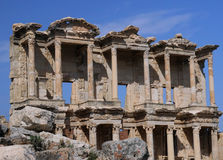 Library of Celsus in Ephesus. Library of Celsus in the ancient town of Ephesus in Turkey Royalty Free Stock Photography
