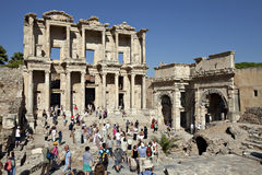 The library of Celsus in Ephesus. Izmir, Turkey Royalty Free Stock Photos