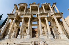 Library of Celsus in Ephesus ancient city. Royalty Free Stock Image