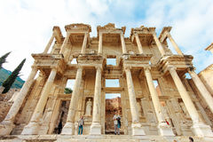 Library of Celsus in Ephesus ancient city, Turkey december 2014 Stock Photo