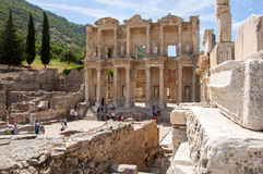 The Library of Celsus , Ephesus Stock Photo