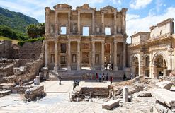 The Library of Celsus , Ephesus Stock Photos