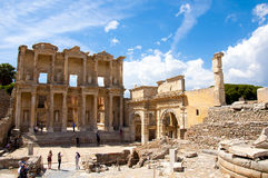 The Library of Celsus , Ephesus Royalty Free Stock Images