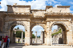 The Library of Celsus , Ephesus Stock Image