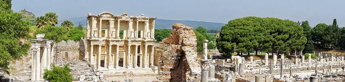 Library of Celsus at Ephesus Stock Photos