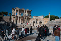 Library of Celsus in Ephesus, Turkey Stock Photos