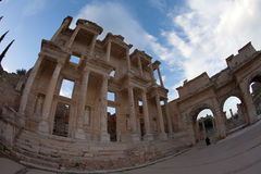 The library of Celsus in Ephesus Turkey Stock Images