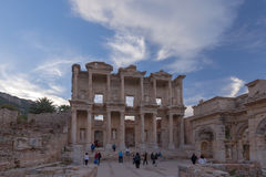 The library of Celsus in Ephesus Turkey Stock Photos