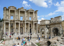 Library of Celsus Ephesus Turkey Royalty Free Stock Photos