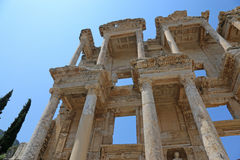 Library of Celsus Facade Royalty Free Stock Photo