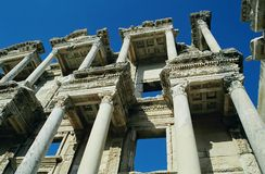 Library of Celsus, Turkey. Library of Celsus in Ephesus - ancient ruins in Turkey Royalty Free Stock Photography