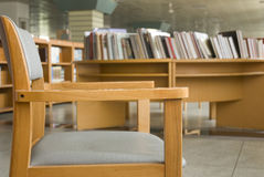 Library chair. University library chairs and tables Royalty Free Stock Images
