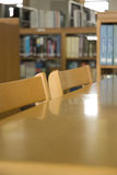 Library chair. University library chairs and tables Royalty Free Stock Photo