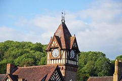 Library and clock tower, Ledbury. Stock Photo