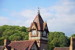 Library and clock tower, Ledbury. Stock Photo