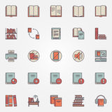 Library colorful icons Royalty Free Stock Images