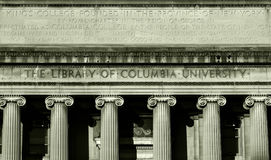 Library of Columbia University. A row of columns emblazon the entrance to the Library Royalty Free Stock Photo