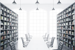 Library with conference table Royalty Free Stock Photography