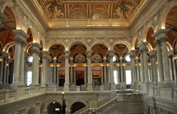 Library of Congress. Entry Hall of the Library of Congress, Washington DC, United States of America Stock Photography