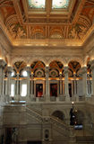 Library of Congress. Entry Hall of the Library of Congress, Washington DC, United States of America Stock Photo