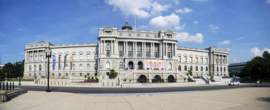 Library of Congress. Panoramatic photo of the Entry Hall of the Library of Congress, Washington DC, United States of America Royalty Free Stock Photo
