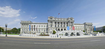 Library of Congress. A high quality and detailed panorama of the Library of Congress, Jefferson Building in the Washington D.C., USA Royalty Free Stock Photography