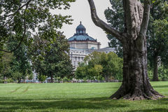 Library of Congress Building Through Trees Stock Image