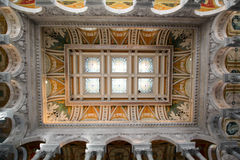 Library of Congress ceiling Royalty Free Stock Photo