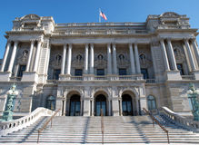 Library of Congress Day. Library of Congress on a bright sunny morning in Washington DC Stock Photos