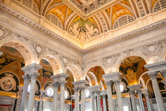Library of Congress, interior of the building, DC Stock Photos