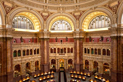 Library of congress. Main reading room at library of congress Royalty Free Stock Photo