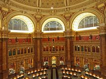 Library of Congress reading room, Royalty Free Stock Photos