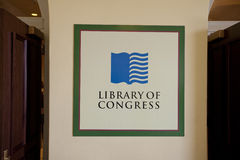 Library of Congress sign Stock Photo
