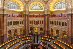 The library of congress usa LOC. Main reading room at the Library of Congress stock image