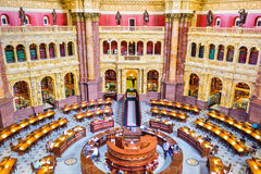 Library of Congress. WASHINGTON, D.C. - APRIL 12, 2015: The Library of Congress in Washington. The library officially serves the U.S. Congress royalty free stock photo