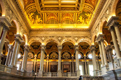 Library of Congress, Washington, DC, USA. Located in front of US Capitol, Library of Congress is a famous tourist place in the center of Washington DC, USA stock image