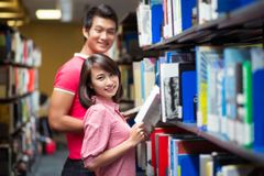 Library couple Royalty Free Stock Image