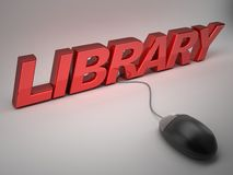 Library. 3d high quality render Royalty Free Stock Images