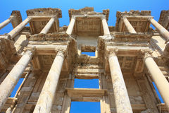 Library in ephesus. The mighty facade and columns of the ancient library in ephesus, turkey Royalty Free Stock Photography