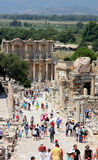 Library at Ephesus. Library building at Ephesus in Turkey Stock Photo