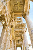 Library in Ephesus. Old ruin, famous Celsus library in Ephesus Royalty Free Stock Images